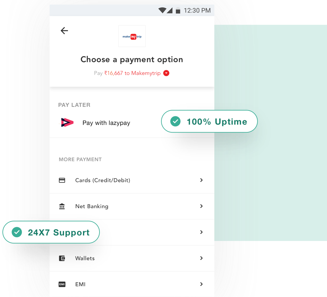 LazyPay Payment Option